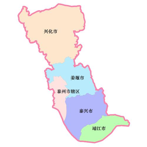 浙江泰州地图高清版