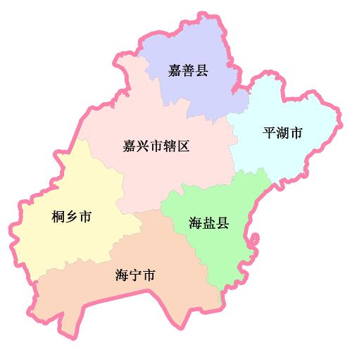 嘉兴地图各区全图