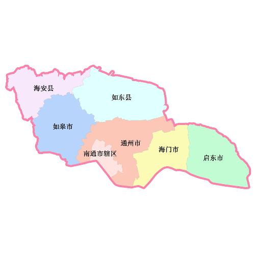 青岛到南通地图