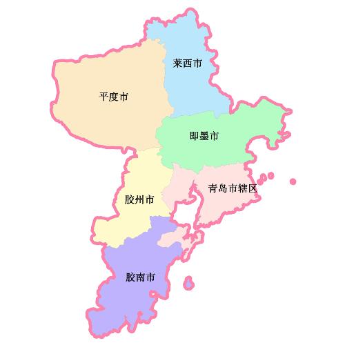 青岛银海大世界地图