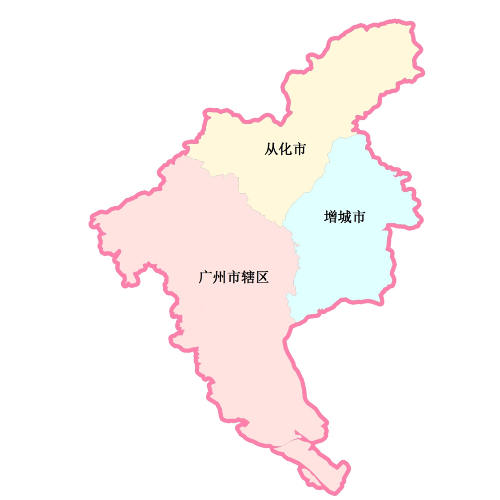 广州佛山行政地图